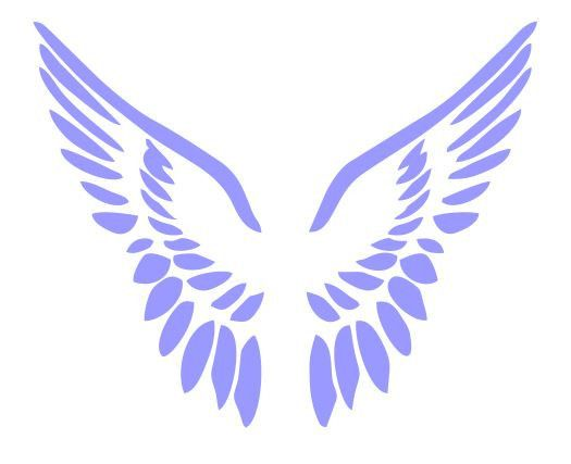 Simple Angel Wings Svg Free