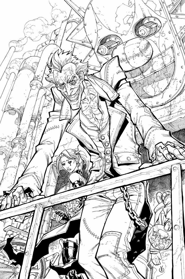 joker comic art characters u0026 art batman arkham city comics