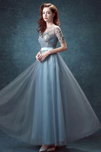 Sifon Abiye Elbise Mavi Abiye Elbise Maxi Elbise Sifon Elbise Elbiseler