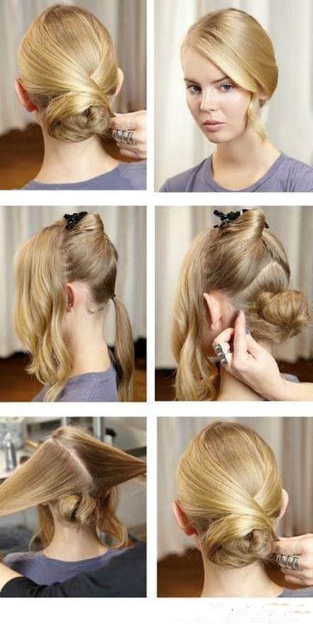 Quick Office Hair Style Office Hairstyles Hair Styles Medium Hair Styles