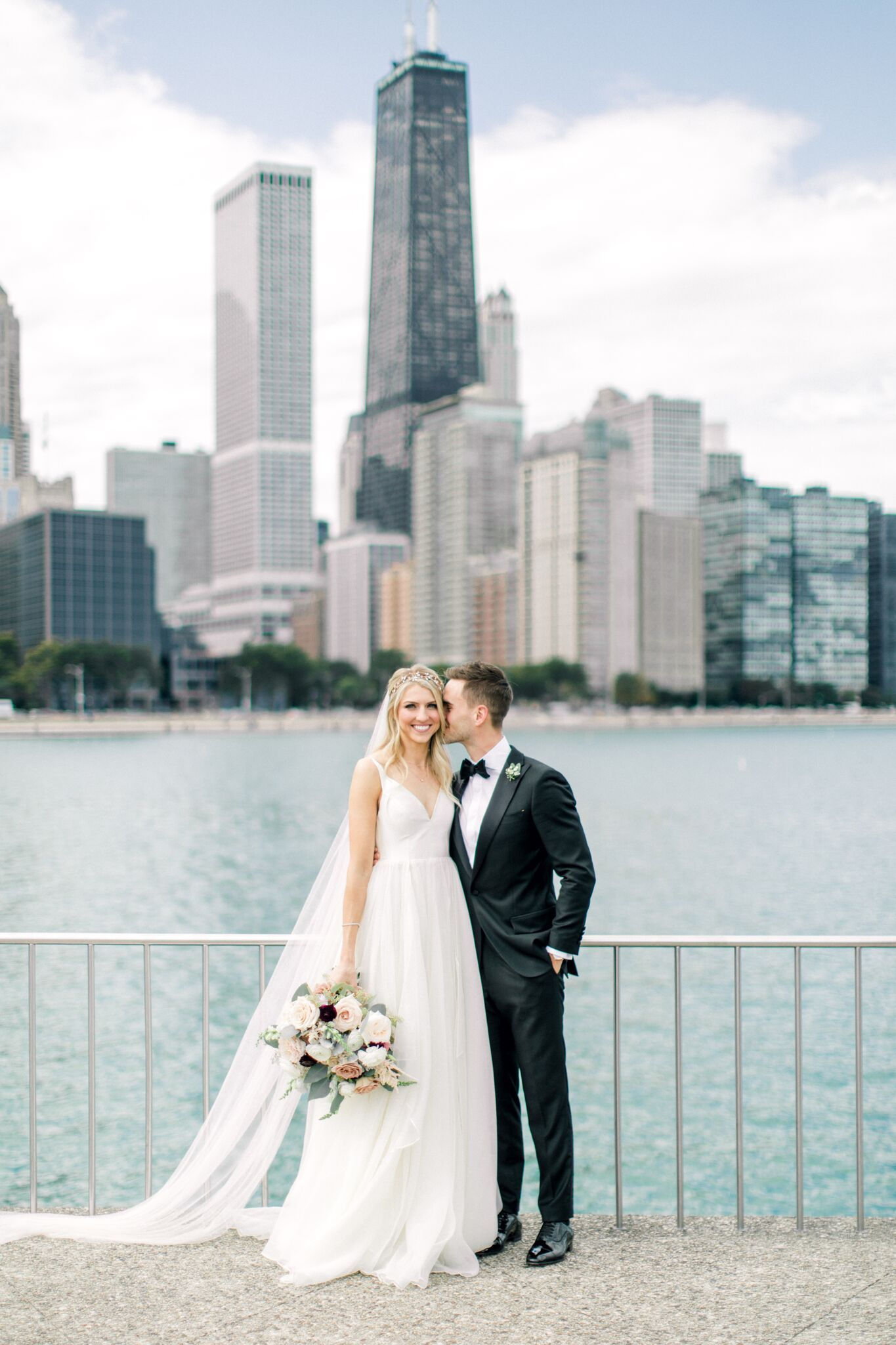 Bride Groom First Looks At Chicago Wedding At Morgan Manufacturing In Chicago Illinois Brought To Life By Ph Storybook Wedding Chicago Wedding City Wedding