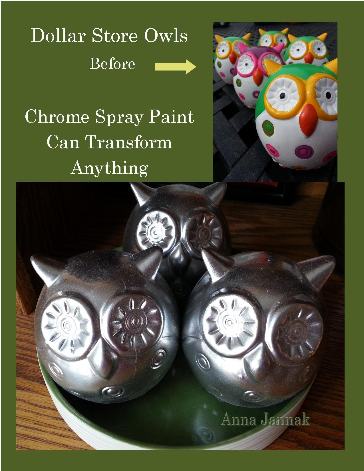 Pin by Missy Beechy on DIY | Dollar stores, Chrome spray ...