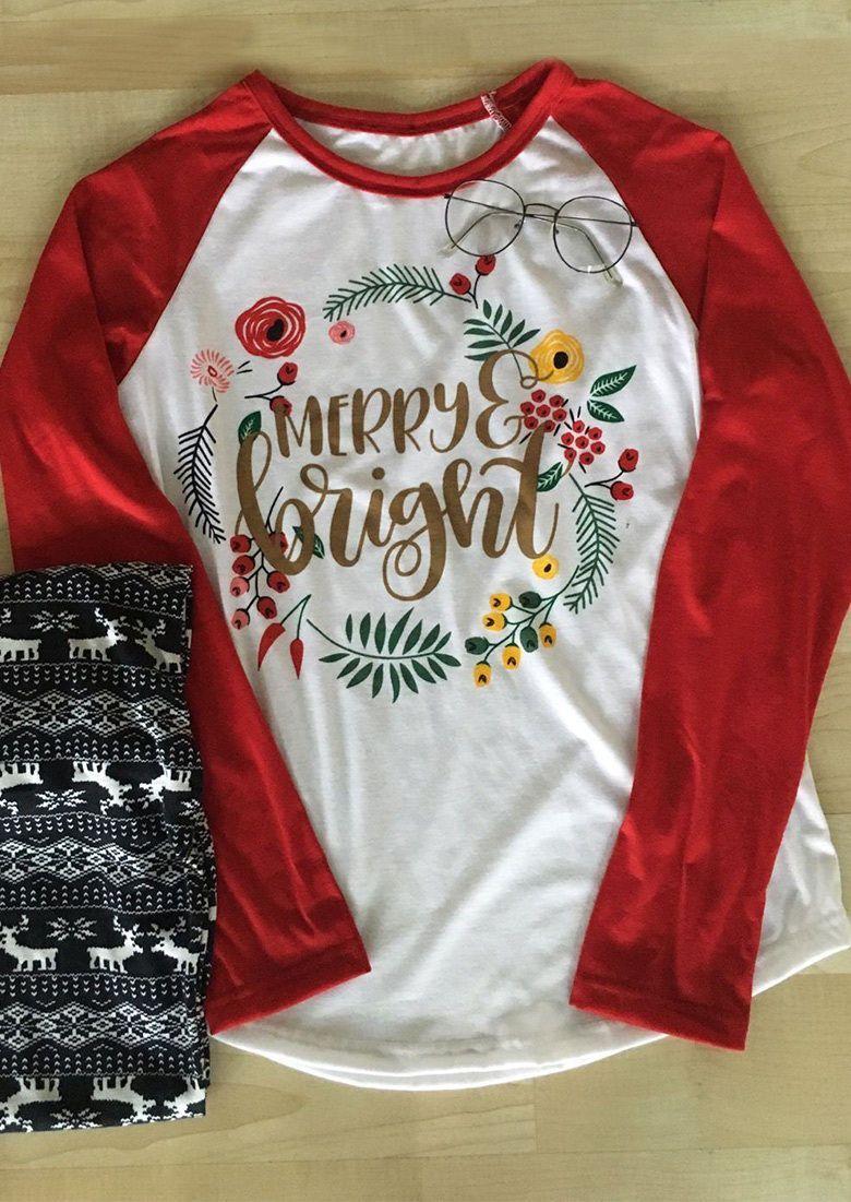 e1979e83b Women Fashion Tees Christmas Printed Splicing Blouse Casual Top T-Shirt