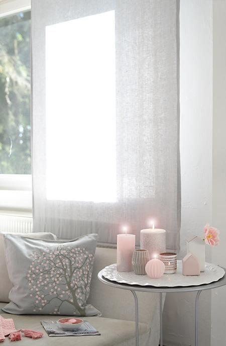 Elementos en color rosa en el salon color pastel for Dekoration wohnzimmer altrosa