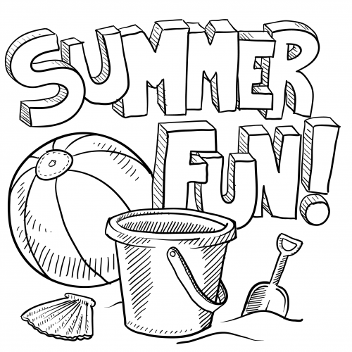Summer Fun Coloring Page Activities Stress Relief Pages