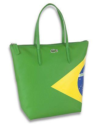 92af9fa6d2 Lacoste Bag, Brasil Flag Tote Bag - Mens Belts, Wallets & Accessories -  Macy's