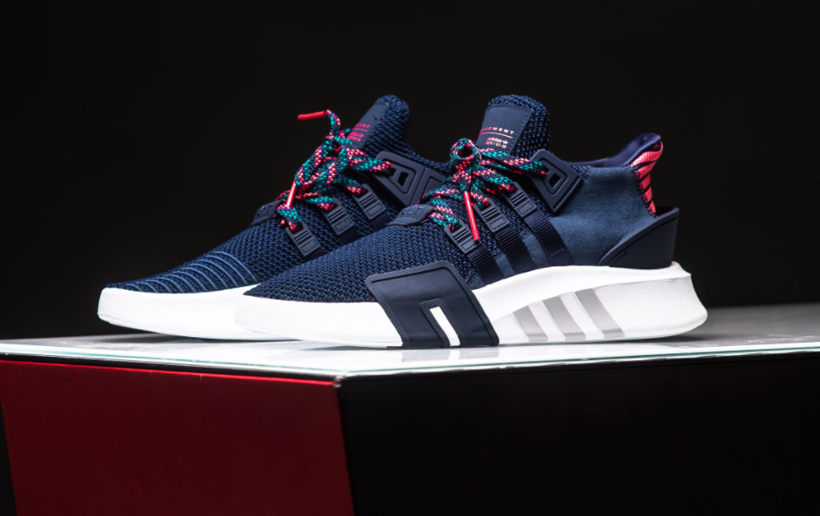 809463d237fa Navy   Coral Land On The New adidas EQT Basketball ADV • KicksOnFire ...