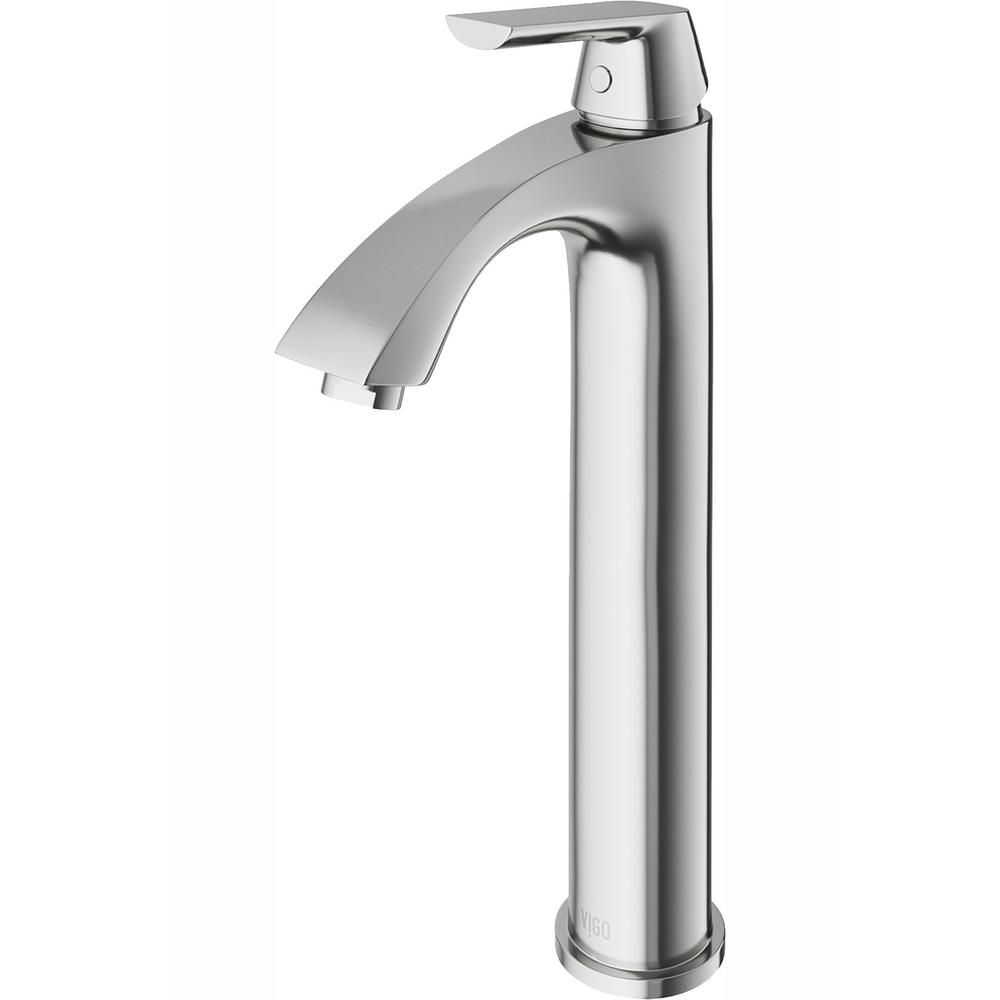 Vigo Linus Single Hole Single Handle Vessel Bathroom Faucet In Brushed Nickel Vg03013bn The Home Depot In 2021 Bathroom Faucets Single Hole Bathroom Faucet Faucet [ 1000 x 1000 Pixel ]