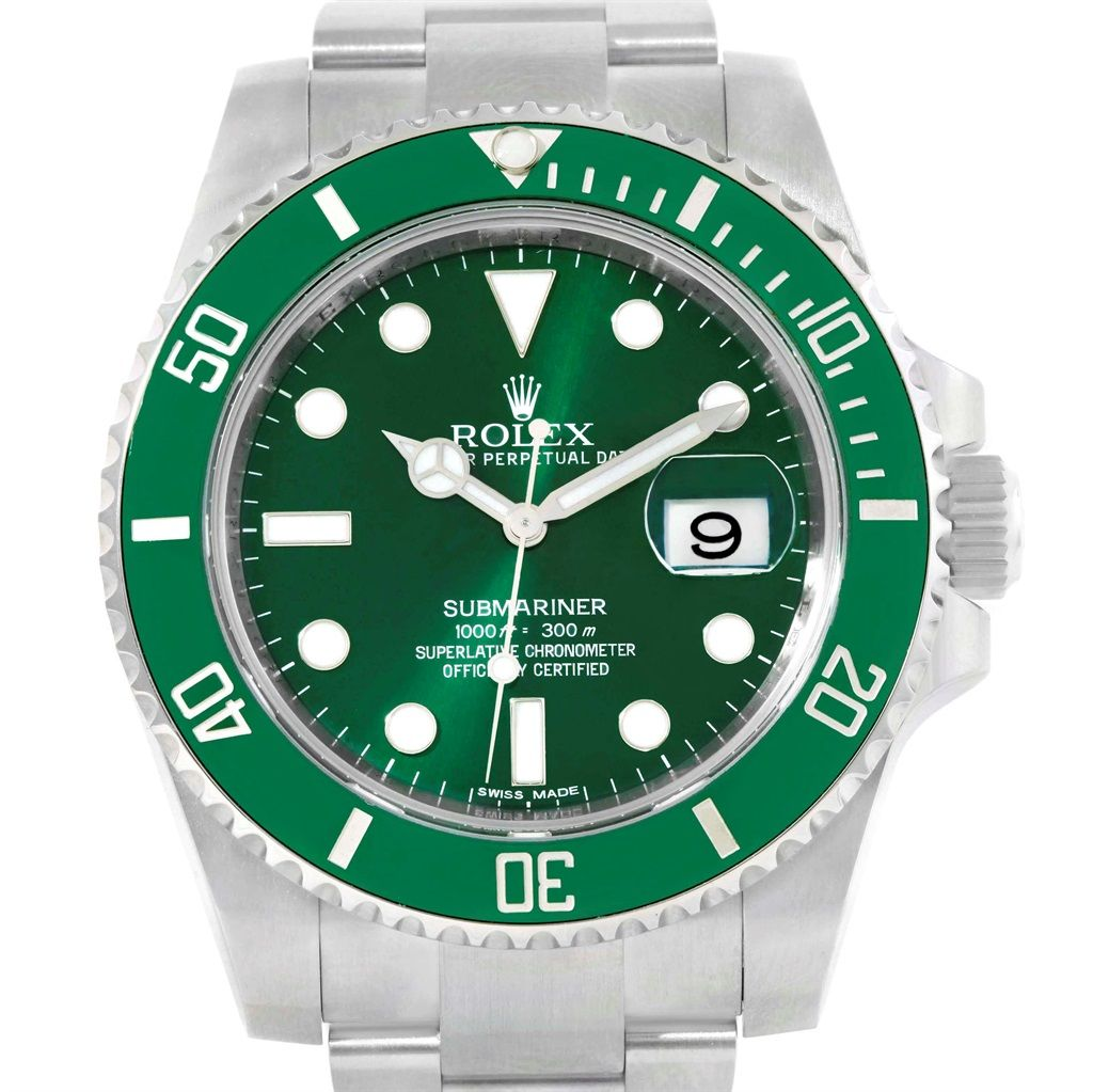 20666 Rolex Submariner Hulk Green Dial Bezel Mens Watch 116610LV Box Card SwissWatchExpo #rolexwatches