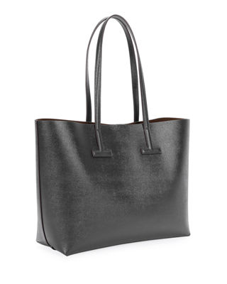 Tom Ford Saffiano Leather Small T Tote Bag Tote Bag Bags Leather