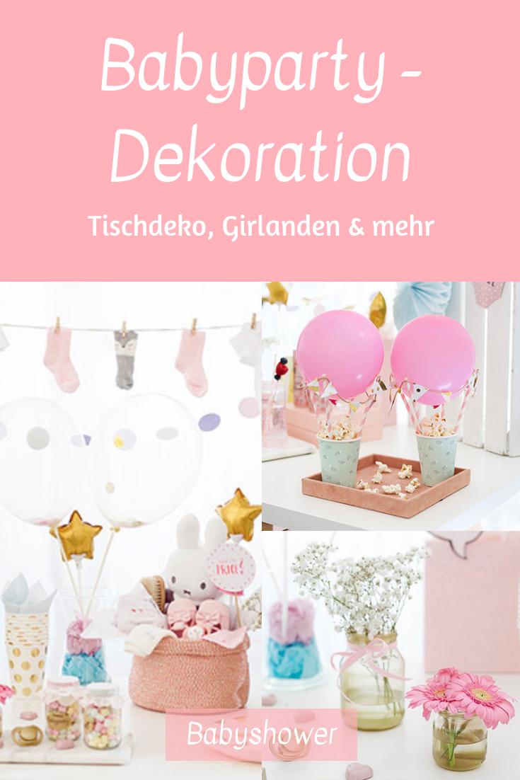Wir zeigen Dir tolle Deko-Ideen für die Babyparty. Babyparty Ideen, Babyparty Junge, Babyparty Mädchen #babyparty #babyshower
