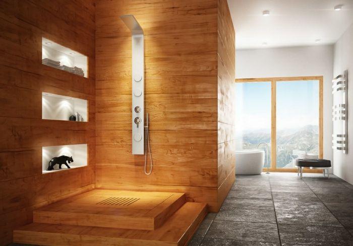 Wandgestaltung Ideen Für Individuelle Und Gehobene Badgestaltung #bathroom  #tile #fliesen #badezimmer #grey