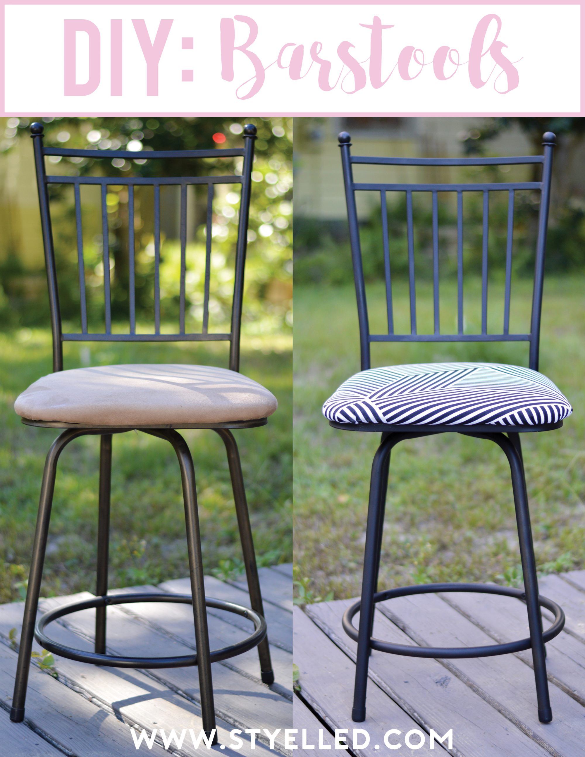 DIY: Turn your Barstools from Drab to Fab - Styelled