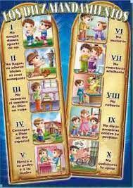 Los Diez Mandamientos Y Su Significado Buscar Con Google Bible Crafts Sunday School Crafts Catholic Kids