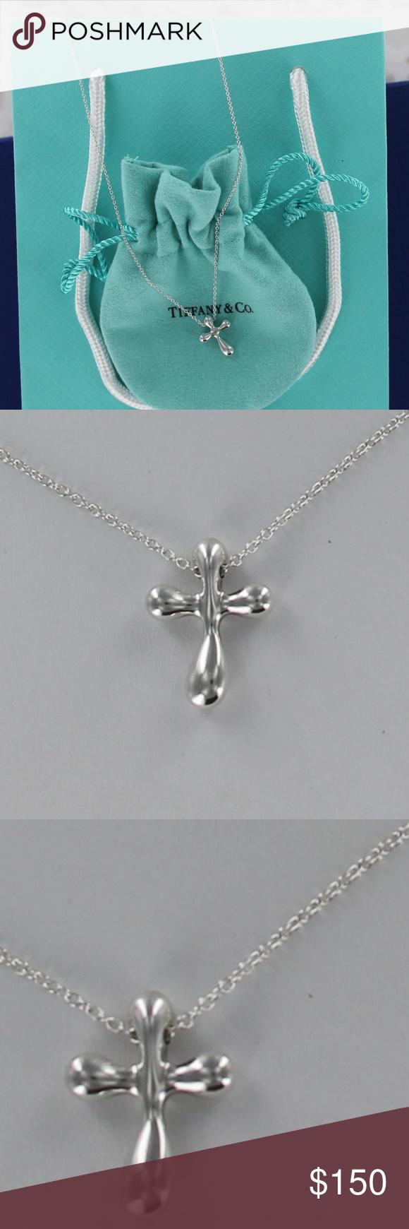 589df57134a34 Tiffany & Co. Peretti Cross Pendant Necklace 18