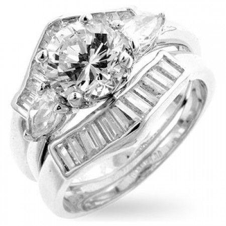 Vintage Twist Clear Cz Wedding Set Engagement Wedding Ring Sets Wedding Ring Sets Wedding Rings Engagement