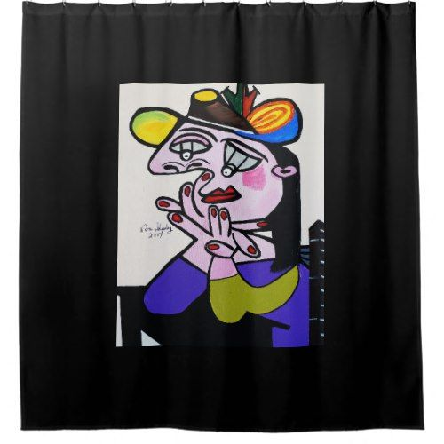 Beau PICASSO BUG EYES SHOWER CURTAIN