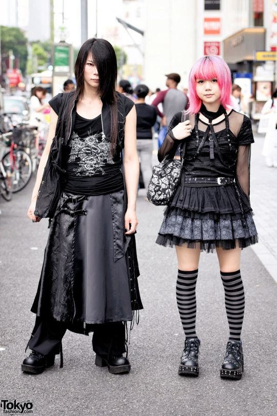 Harajuku punk goth fashion