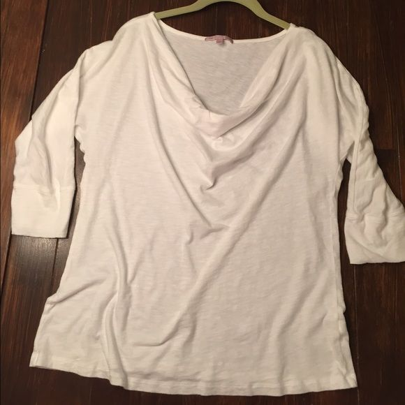 Gap shirt White sheer fabric with a loose neck line.  Summer spring top.  Cute! GAP Tops