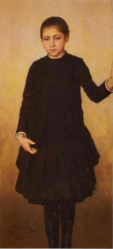 Portrait of Vera Repinahe, the Artist's Daughter, 1886  Ilya Repin