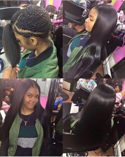 Middle Part Sew In Flawless Style