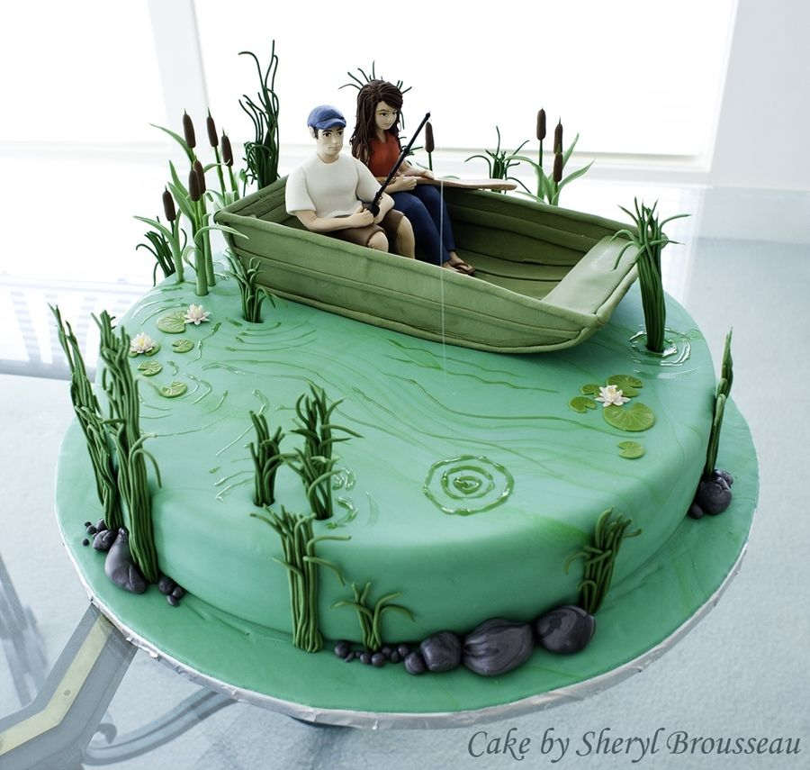 Fishing Wedding Ideas: Fishing Cake Groom S Cake With