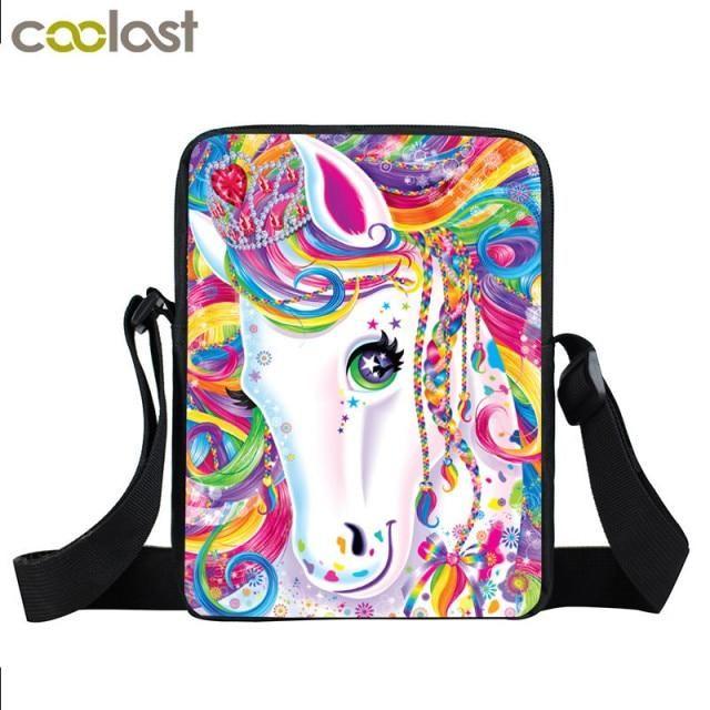 Photo of Cute Pony Shoulder Bag Ladies Crossbody Bags for Unicorn Travel Women Handbag Girls Satchel Bookbags Mini Messenger Bag Gift – xkb cartoongirls03 / L23cm W17cm H6cm