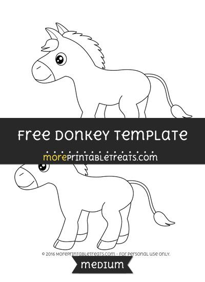 free donkey template medium shapes and templates printables