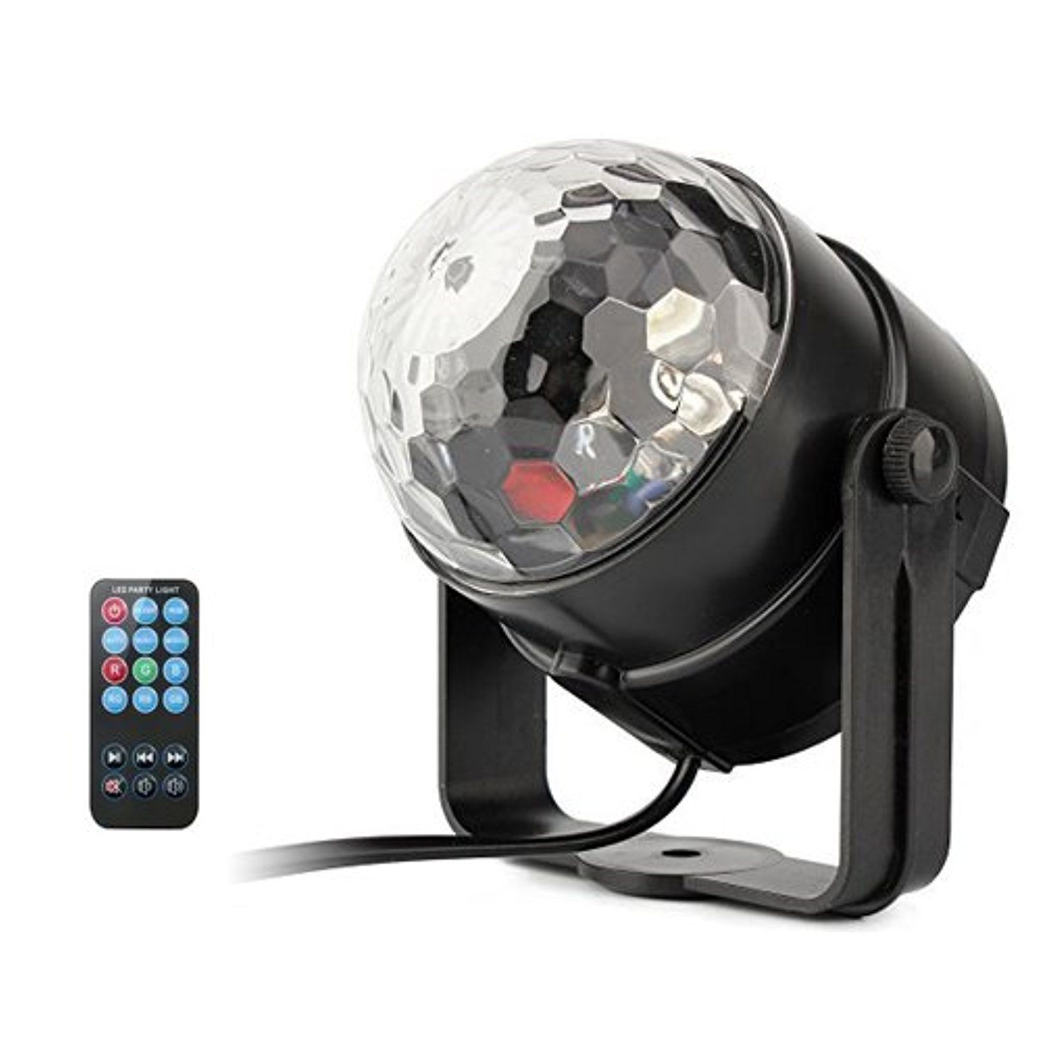 Superdream Remote Colorful Disco Ball Party Lights, Sound Activated ...
