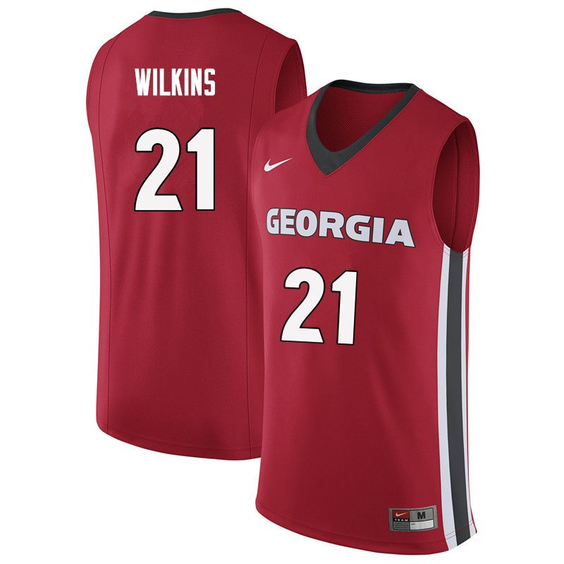 1f8df82a8291 Men  21 Dominique Wilkins Georgia Bulldogs College Basketball Jerseys  Sale-Red