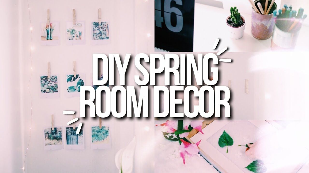 DIY SPRING ROOM DECOR  Cute Easy  Cheap  Ideas for your