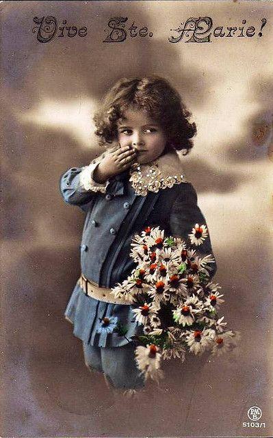 Vintage Postcard ~ Sweet Sailor
