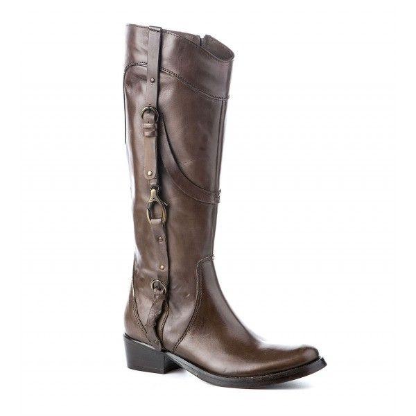 19cf95129c0 Καφέ Δερμάτινες Μπότες | fashion | Boots, Riding Boots και Shoes