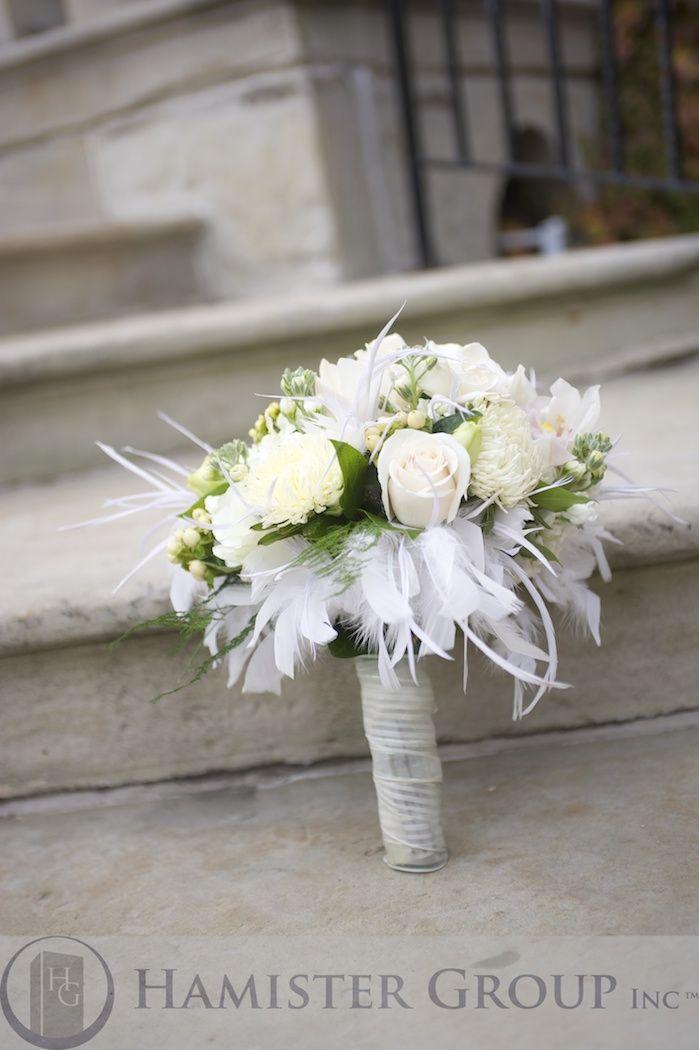 Wedding Bouquet, Black & White, Feathers, Elegant, Vera Wang would ...