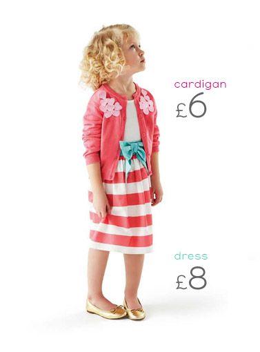 ee45338fa9c4 Nutmeg - Morrisons Clothing   Kidswear   Dress with cardigan ...