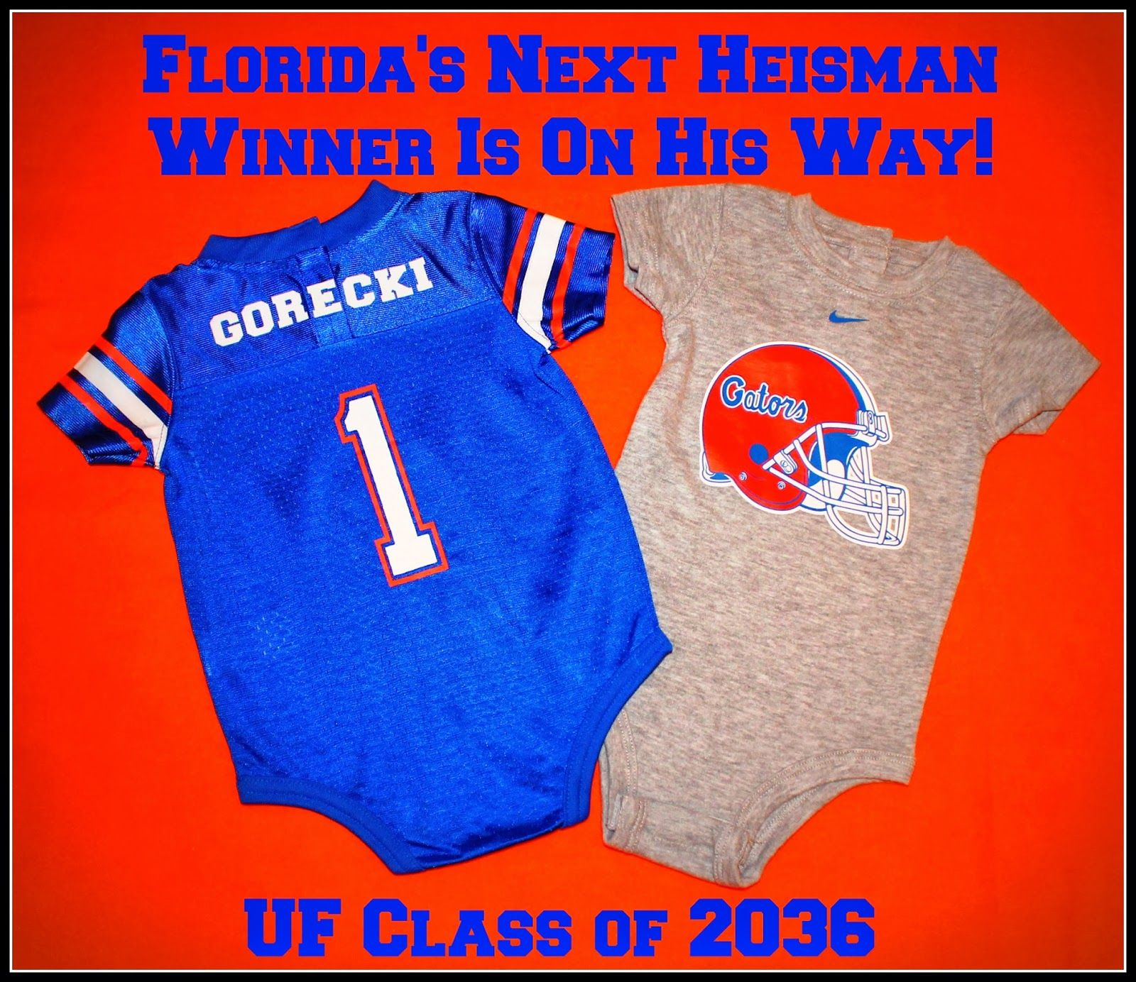 University of Florida Gator baby announcement
