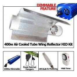 The Grow Ace Optimal 400w Hps Cool Tube Reflector Digital Dimming Ballast Grow Light Kit Comes With Everything You Grow Lights Hps Grow Lights Led Grow Lights