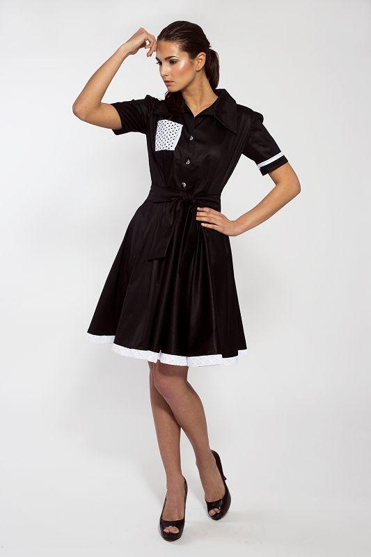 71a6e302358b Šaty Agnes - košilový střih