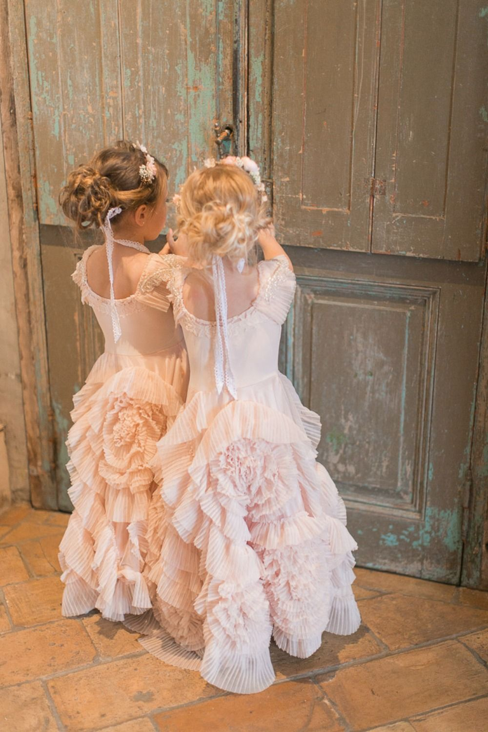 What happens in new orleans blush wedding flower girls u ring