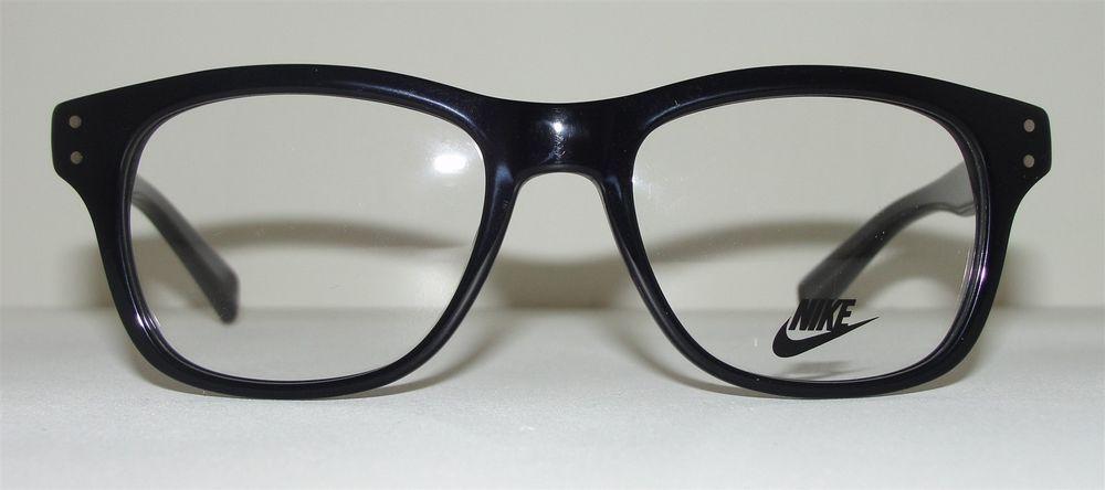 new authentic nike eyeglasses 7203 010 black retro frames ebay - Ebay Eyeglasses Frames