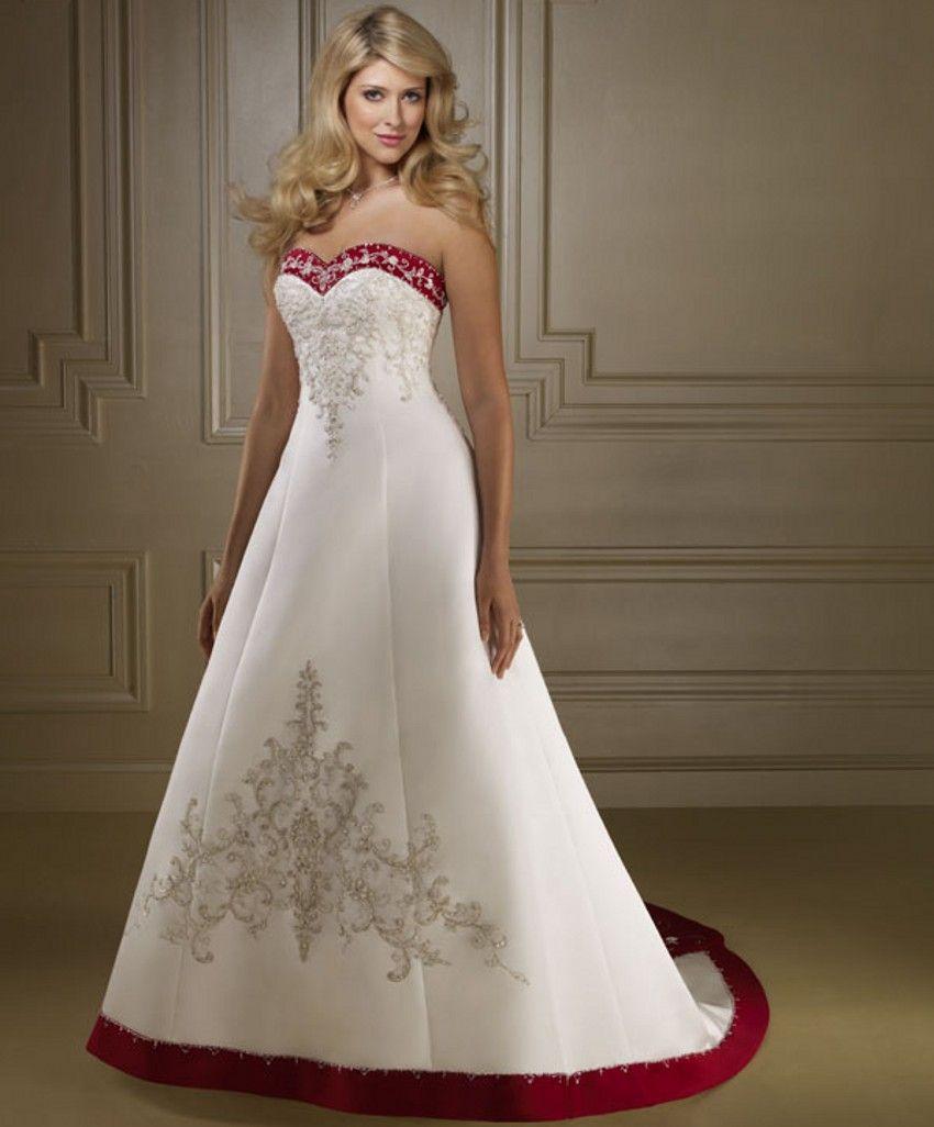 Resultado de imagem para vestido de noiva branco e vermelho ...