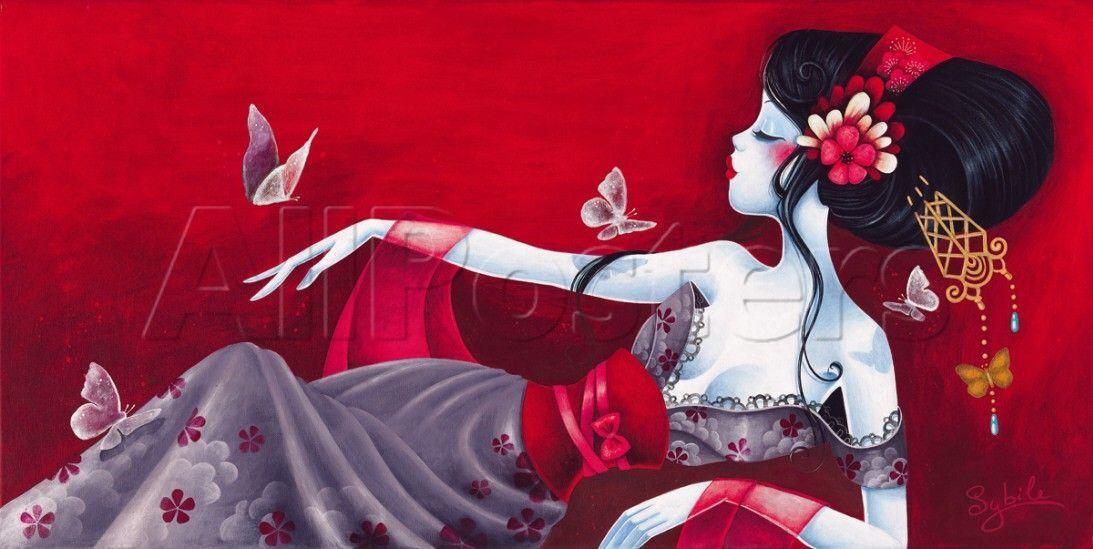 Pintora E Ilustradora De Unos 34 Anos Que Siguio Sus Estudios Sobre El Dibujo Y La Pintura En Su Pais De Origen Dedicandose Especialme Ilustraciones Arte Geisha Y Produccion Artistica