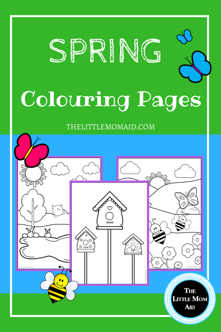 Spring Colouring Pages for Kids: Free Printables | Free printable ...