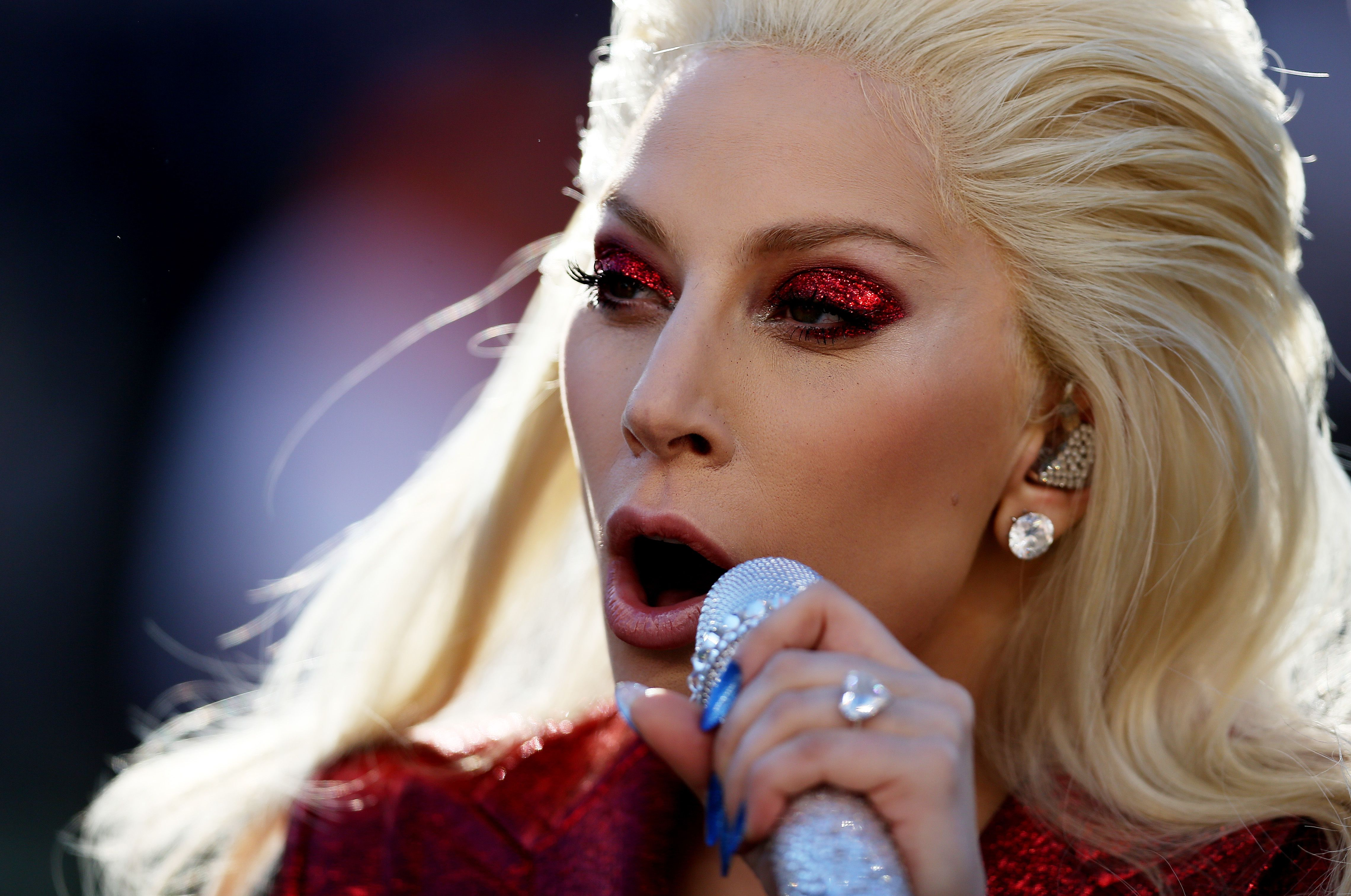 Lady Gaga Absolutely Killed It Singing The National Anthem At Super Bowl