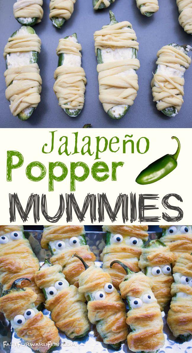 Jalapeño Popper Mummies (Easy  Fun Halloween Snack!) Happy - fun halloween party ideas