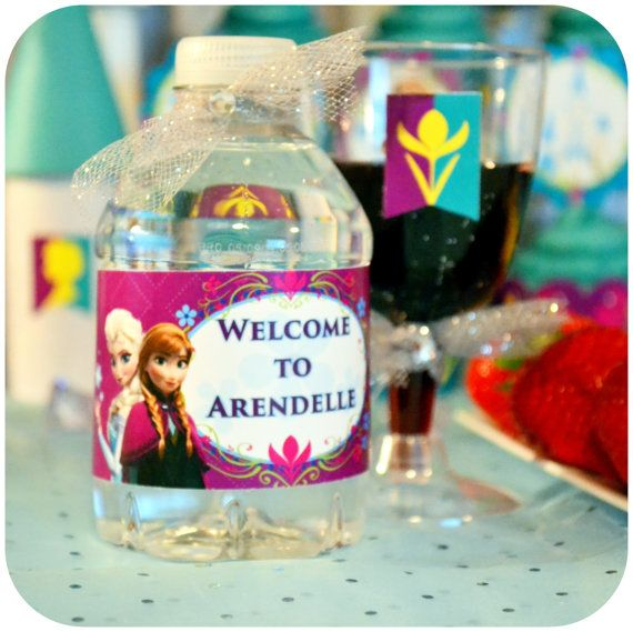 DISNEY FROZEN Printable Water Bottle Labels  by KraftsbyKaleigh, $3.00