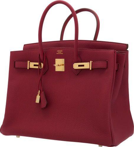 d089d4eafb38 Hermes 25cm Rubis Togo Leather Birkin Bag with Gold Hardware ...