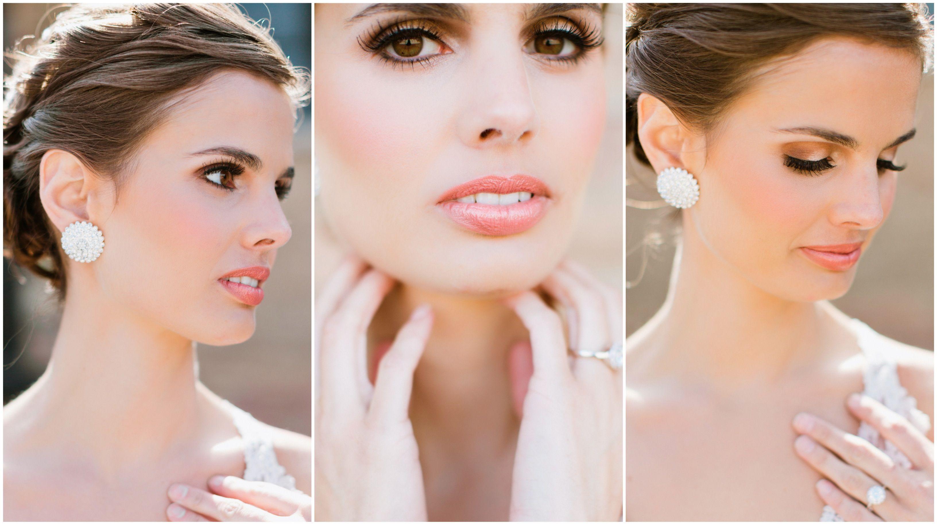 romantic bridal makeup by makeup artist shannon o'brien   wedding