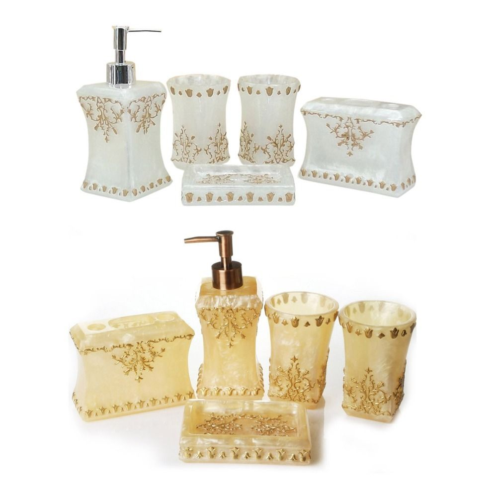 Mother Of Pearl Bathroom Accessory Cessory Set