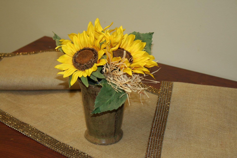 Sunflower Silk Floral Arrangement, Bouquet in Glass Vase, Rustik Arrangement,Artificial Flower Bouquet, Floral composition, Home Decor by HomeFloverDecor on Etsy